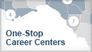 Image of One-Stop Career Center Area Map